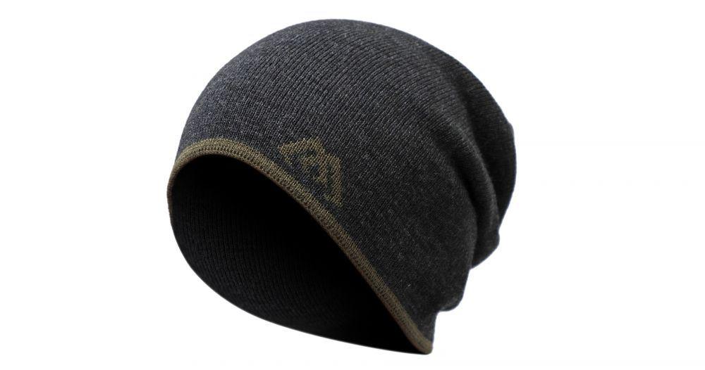 MIKADO Zimná čiapka - BEANIE (sivo-zelená)