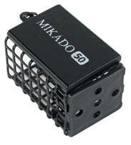Hranatý feeder košík MIKADO čierny (25x30x44) 20g bal.10ks