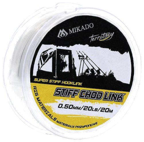 MIKADO Nadväzcový vlasec - STIFF CHOD LINK 20LBS 0.50 - 20M