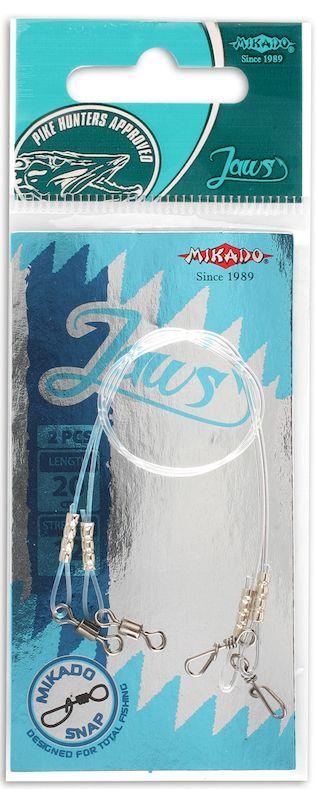 MIKADO Hotový fluocarbonový nadväzec JAWS 25cm (2ks)