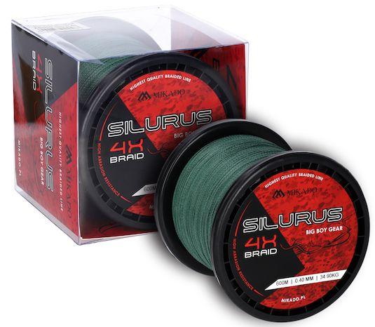 MIKADO Sumcová šnúra - 0.45mm/37.40kg/600m (zelená)