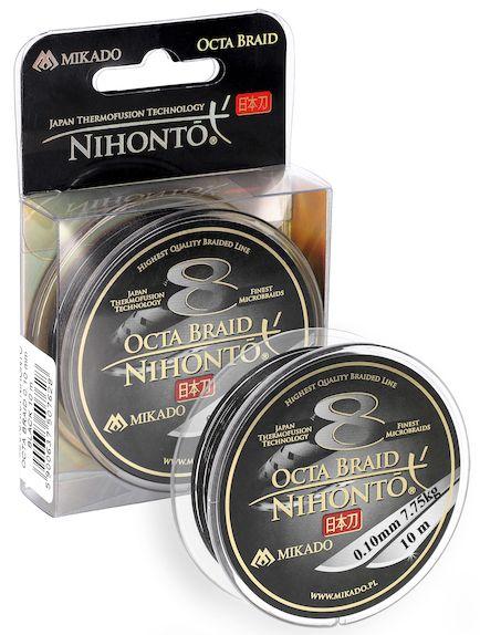 MIKADO Šnúra NIHONTO OCTA BRAID - 0.12mm/10m (čierna)