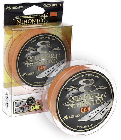 MIKADO Šnúra NIHONTO OCTA BRAID - 0.12mm/150m (fluo oranžová)