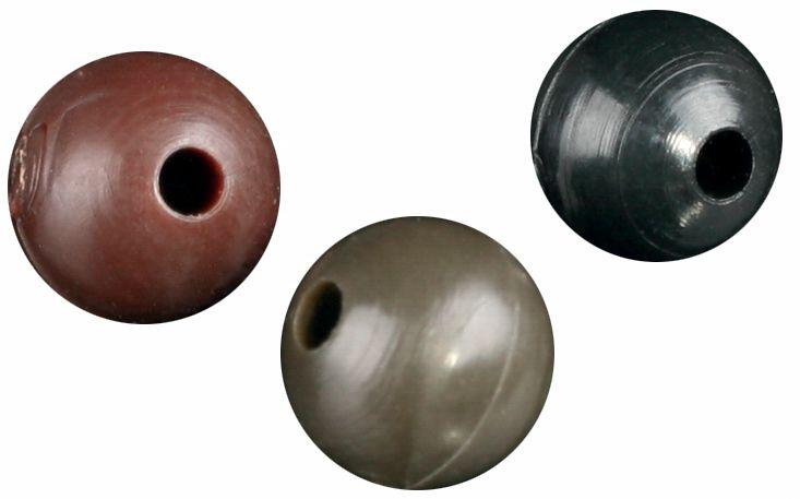 Silikónová korálka (6mm,hnedá) bal.25ks Mikado