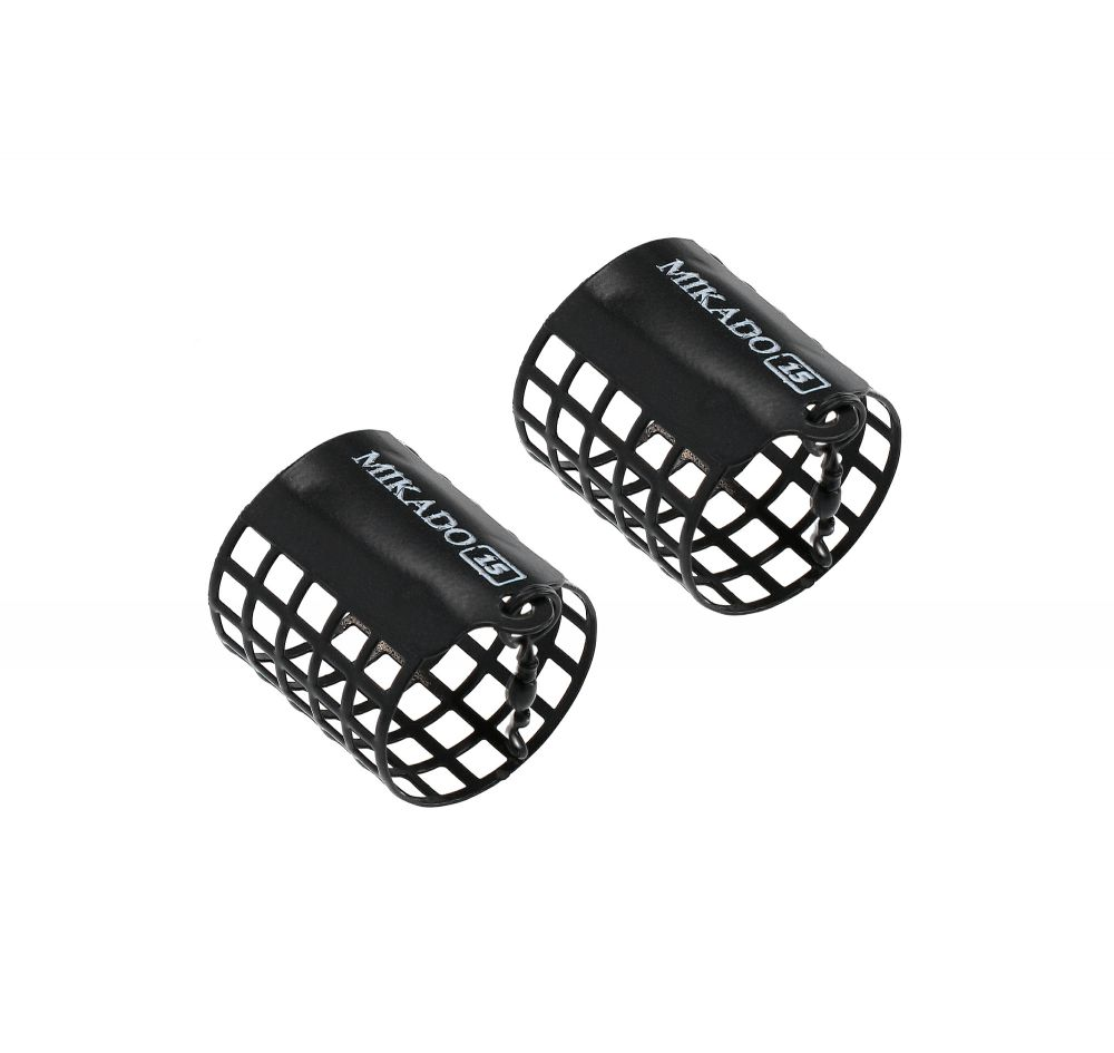 MIKADO Feeder košík okrúhly 60g (32x40mm) čierný 2ks