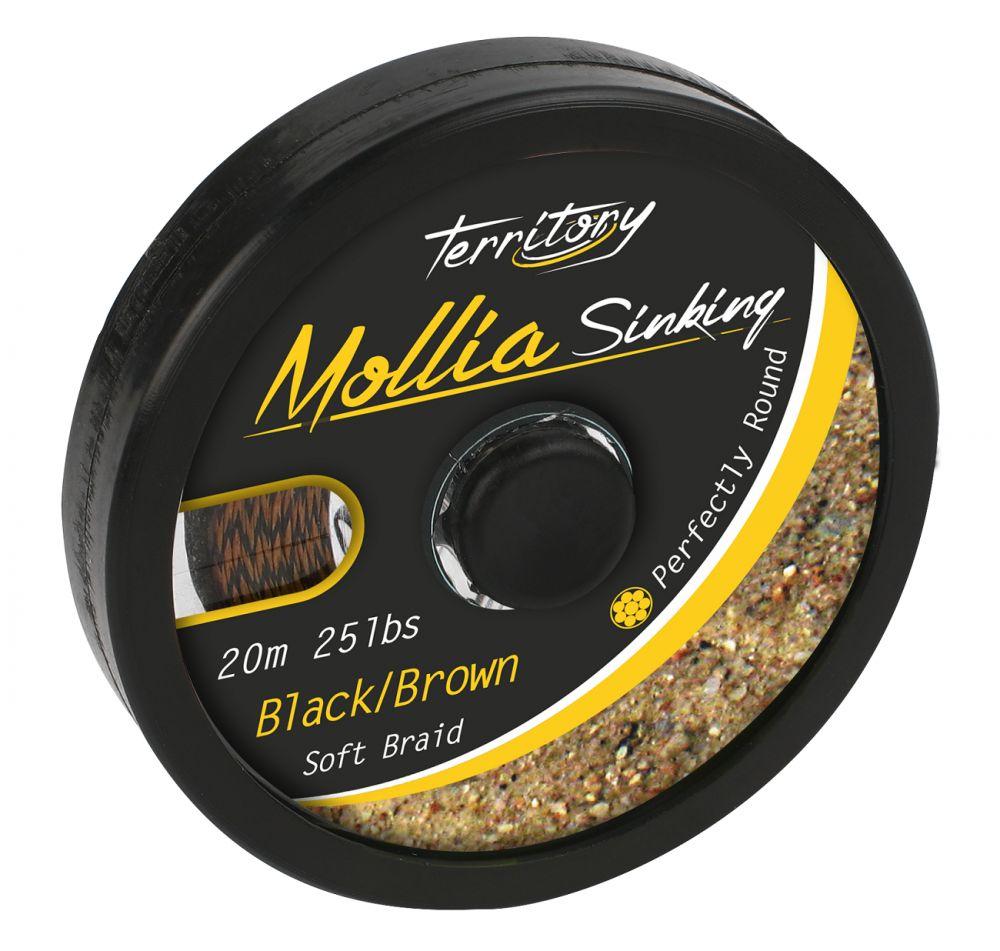 MIKADO Nadväzcová pletenka - MOLLIA HOOKLINK - 20m 45lb čierno/hnedá