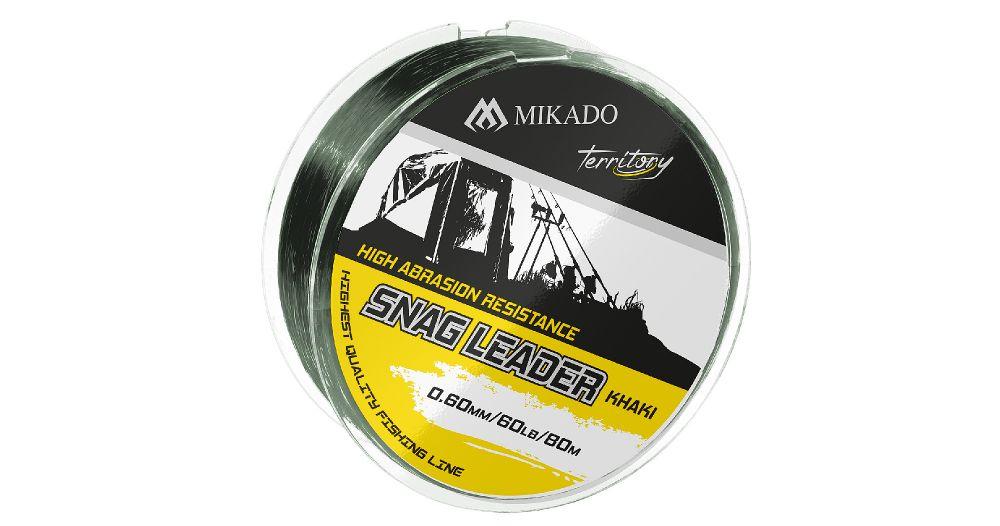 MIKADO Šokový vlasec SNAG LEADER KHAKI - 45lbs/0.50mm (80m)