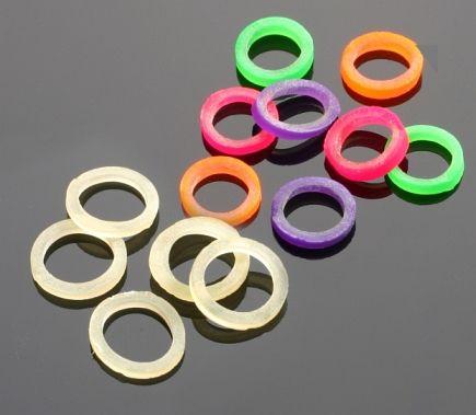 MIKADO Gumené krúžky na pelety 5mm - farebný mix (50ks)