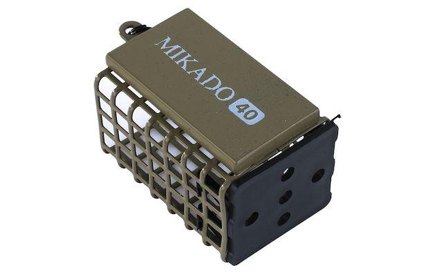 Hranatý feeder košík MIKADO olivový (25x30x44) 10g bal.10ks