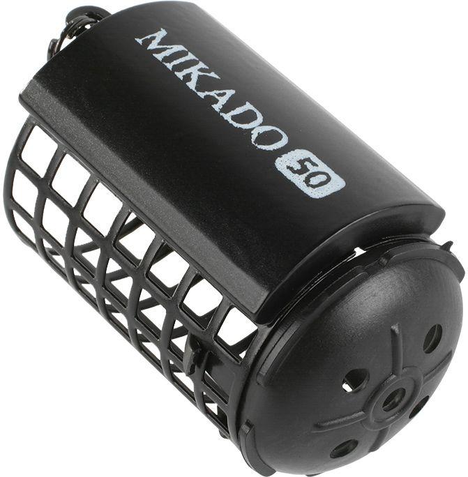 MIKADO Feedrový košík s dnom/čierny HEAVY (1ks)