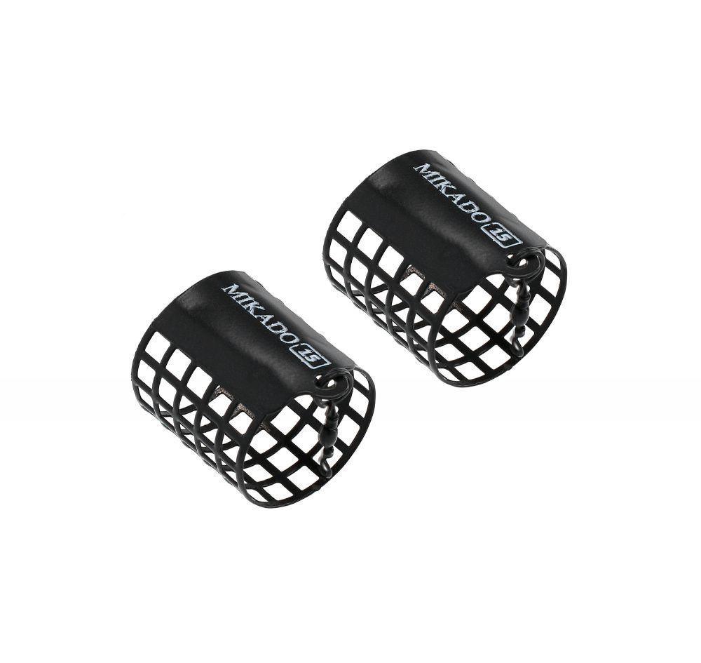 MIKADO Feeder košík okrúhly 10g (32x40mm) čierný 2ks