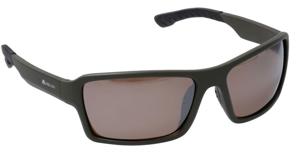 MIKADO Polarizačné okuliare 0244 / zrkadlový efekt (hnedé)
