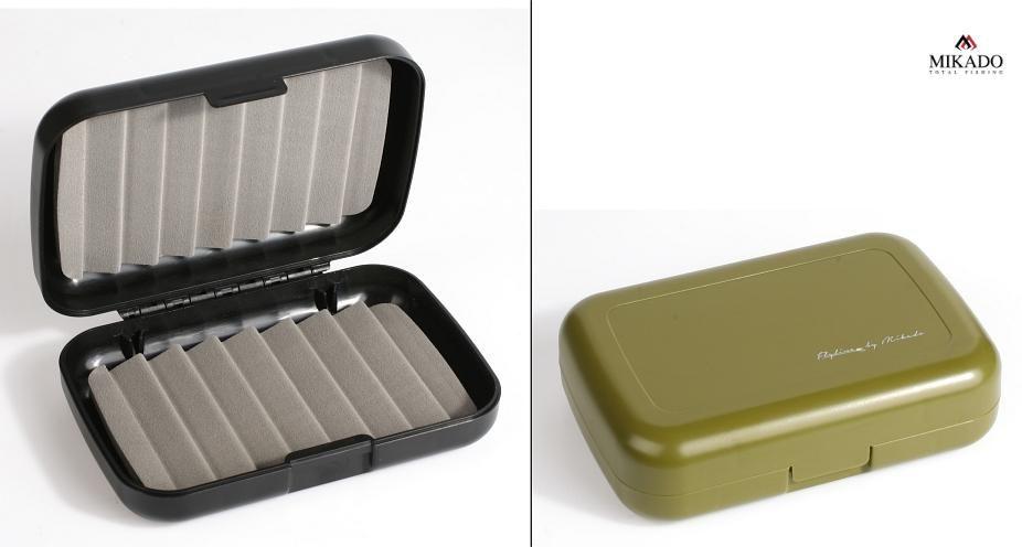 Krabička na mušky (sivá) 128x86x34mm