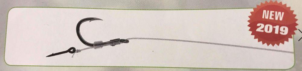 MIKADO Hotový nadväzec - METHOD FEEDER RIG 10cm W/SPIKE - č.4, 0.28mm - 8ks (monofilament) - AKCIA!