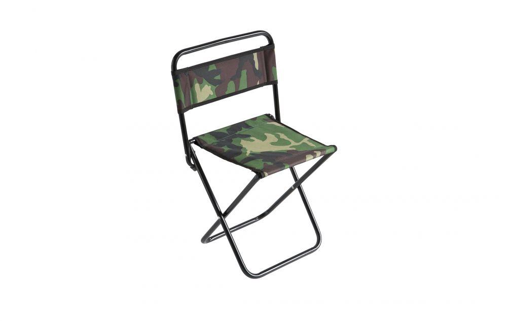 MIKADO Rybárska stolička s operadlom camou (30x38x59cm)
