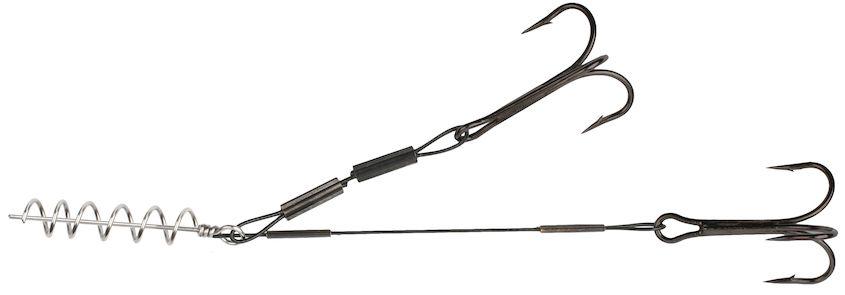 MIKADO Hotový nadväzec STINGER - JAWS STEEL (5+10cmx24kg /trojhák 1/0)  1ks
