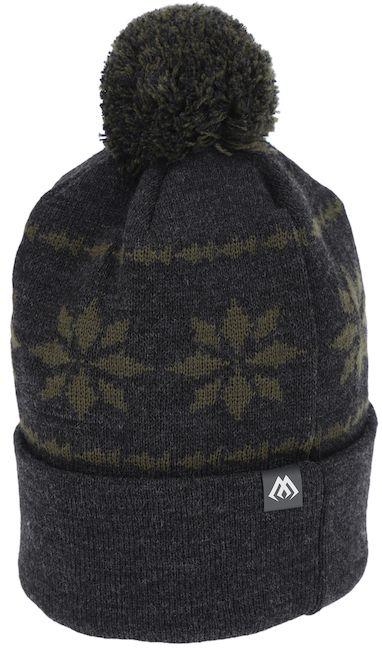MIKADO Zimná čiapka -  POMPOM (sivo-zelená)