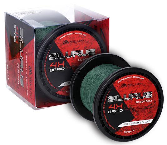 MIKADO Sumcová šnúra - SILURUS BIG BOY GEAR 300m (zelená)
