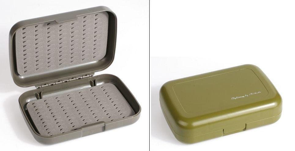 MIKADO Krabička na mušky - sivá (128x86x34mm)