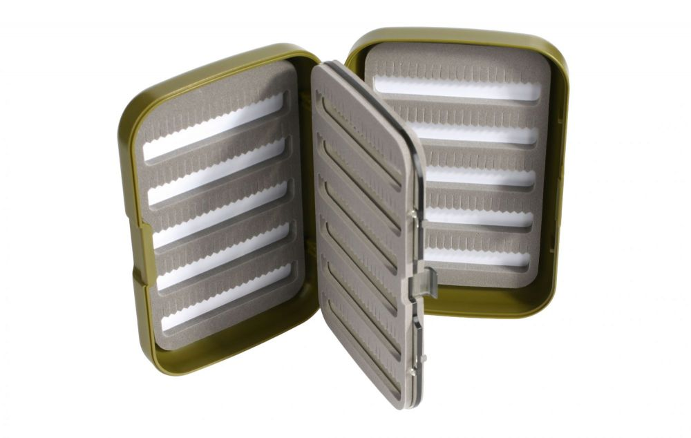 MIKADO Krabička na mušky FLY BOX GREEN (128x86x34mm)