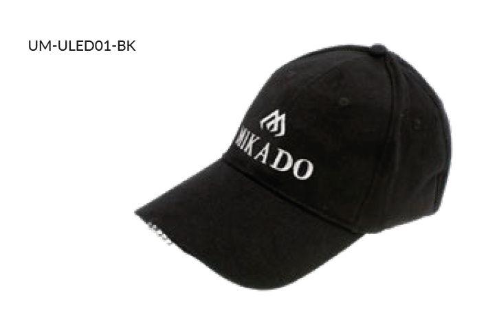 MIKADO Šiltovka s 5x LED diódami /čierná/