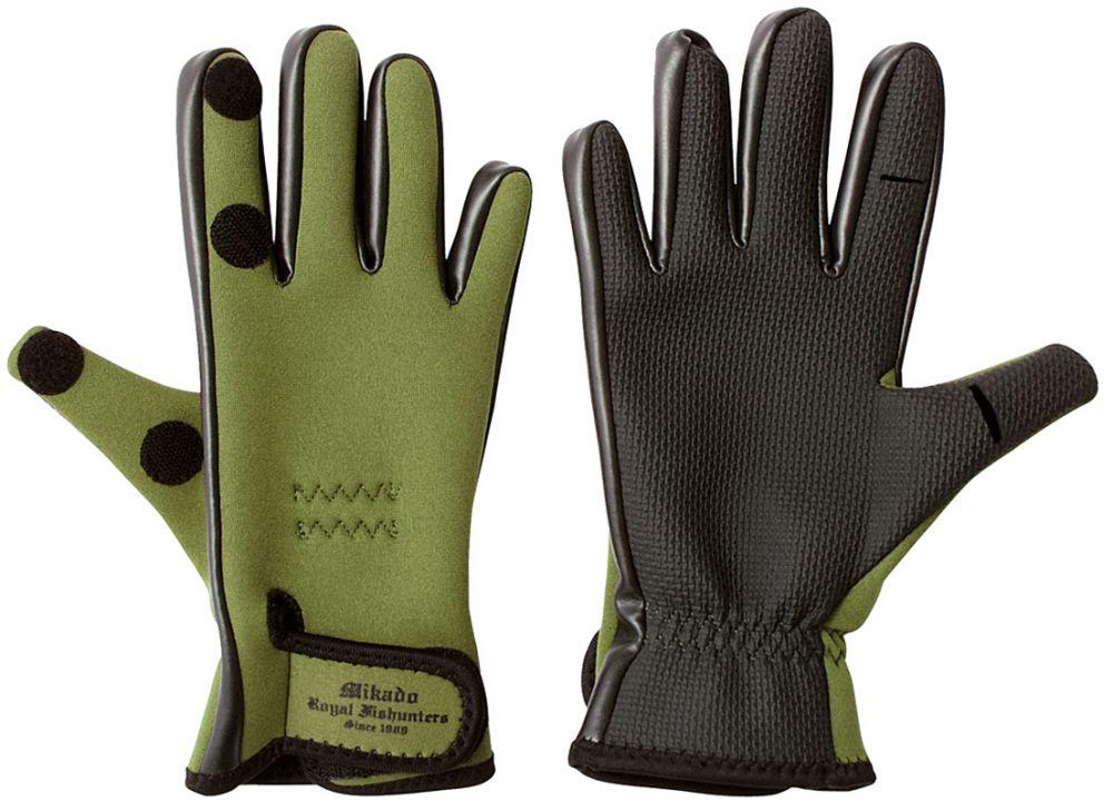 Rybárske neoprénové rukavice UMR-03 (veľ.L) Mikado
