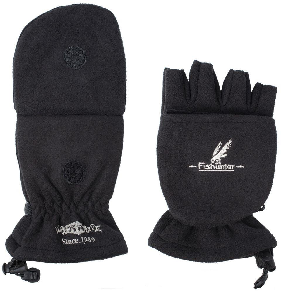 Rybárske rukavice čierne UMR-08B (veľ.XL) Mikado