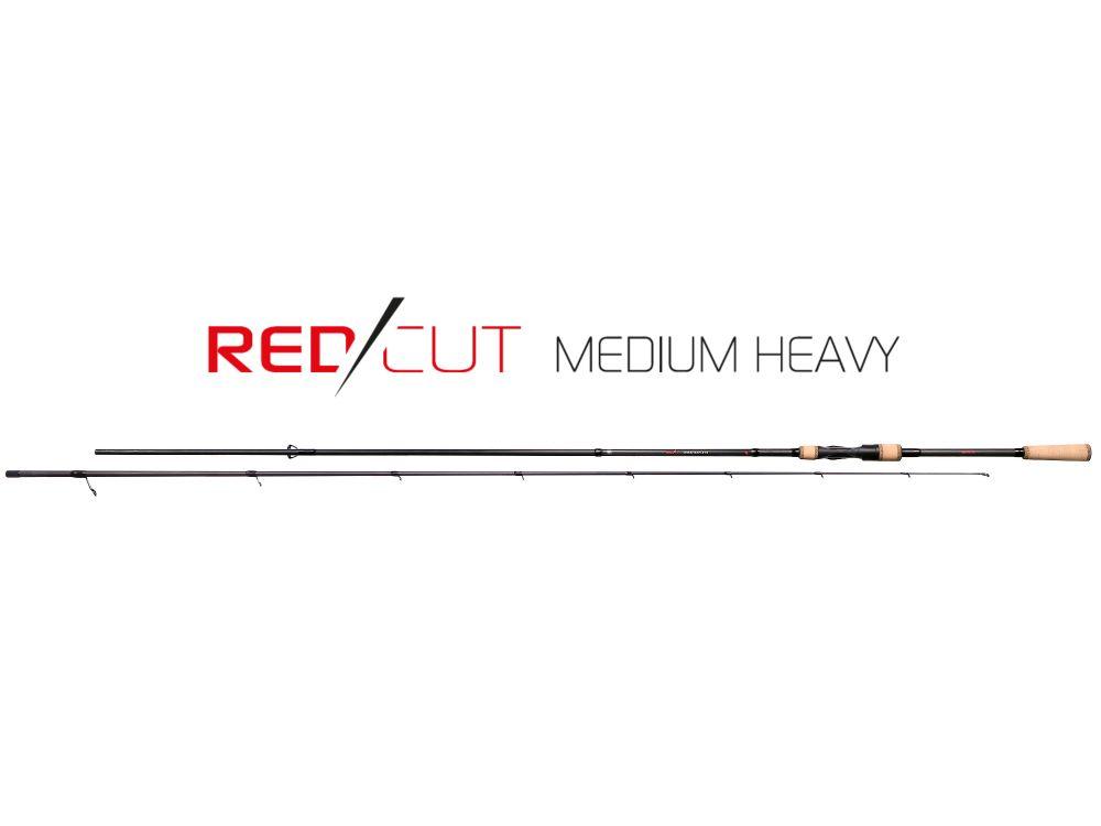 MIKADO Prívlačový prút RED CUT MEDIUM HEAVY SPIN 244cm 10-30g (2 diel)