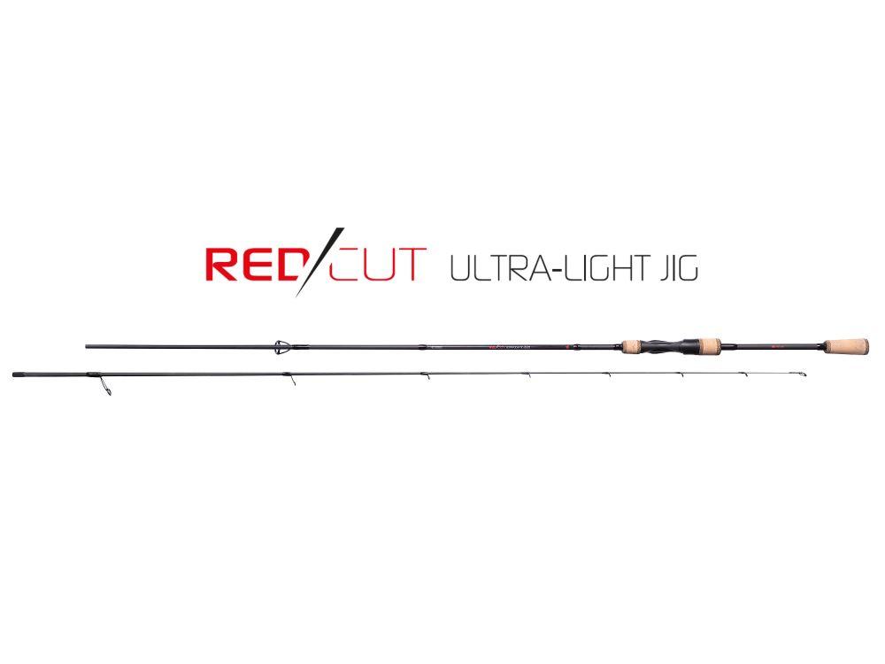 MIKADO Prívlačový prút RED CUT ULTRA LIGHT JIG 220cm 1-7g (2 diel)