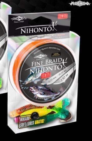 Šnúra NIHONTO FINE BRAID 0.28 oranžová 150m+darček Mikado