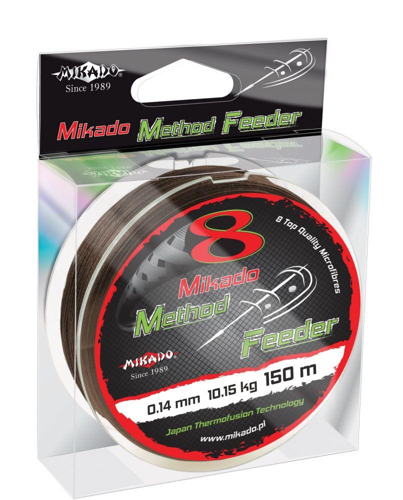 MIKADO Šnúra Octa Method Feeder hnedá - 0.10mm 150m