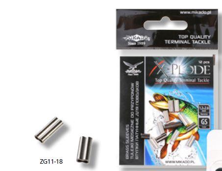 MIKADO Hliníkové krimplovacie trubičky na oceľové lanko (12ks)