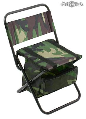 MIKADO Rybárska stolička s taškou camou (30x38x59cm)