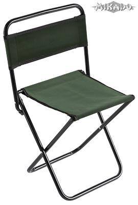 MIKADO Rybárska stolička s operadlom zelená (30x38x59cm)