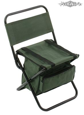 MIKADO Rybárska stolička s taškou/zelená (30x38x59cm)