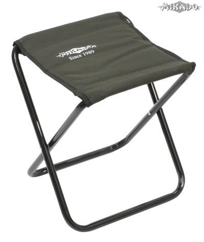 MIKADO Skladacia stolička zelená do 80kg (31x30x36cm)