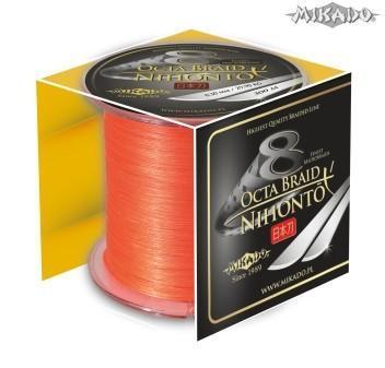 MIKADO Šnúra NIHONTO OCTA BRAID - 0.50mm/300m (fluo oranžová)