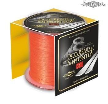 MIKADO Šnúra NIHONTO OCTA BRAID - 0.10mm/300m (fluo oranžová)