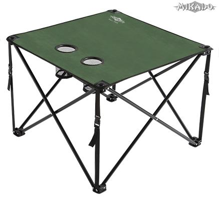 FOLDED CARP TABLE / GREEN (60 x 60 x 50cm)