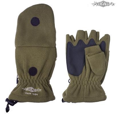 Rybárske rukavice zelené UMR-08G (veľ.M) Mikado
