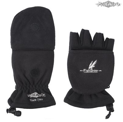Rybárske rukavice čierne UMR-08B (veľ.M) Mikado