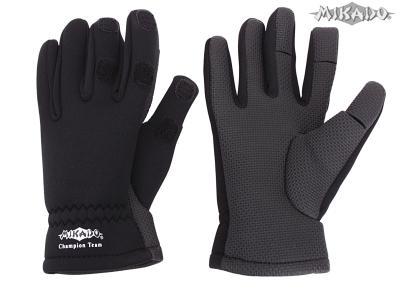 Rybárske neoprénové rukavice UMR-02 (veľ.L) Mikado