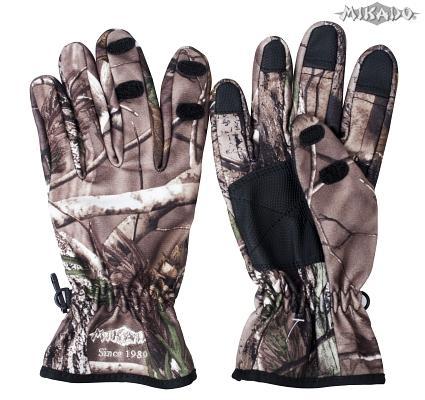 Rybárske rukavice maskáčové UMR-07 (veľ.L) Mikado