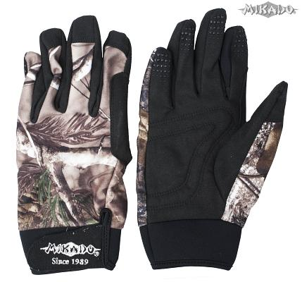 Rybárske rukavice maskáčové (veľ.XL) Mikado