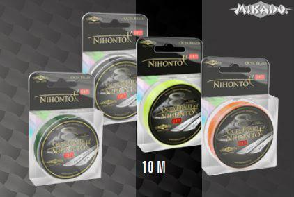 MIKADO Šnúra NIHONTO OCTA BRAID - 0.12mm/10m (žltá)