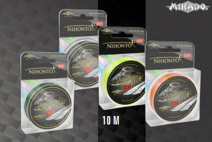 MIKADO Šnúra NIHONTO OCTA BRAID - 0.18mm/10m (žltá)