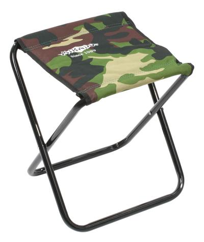 MIKADO Skladacia stolička camou do 80kg (31x30x36cm)