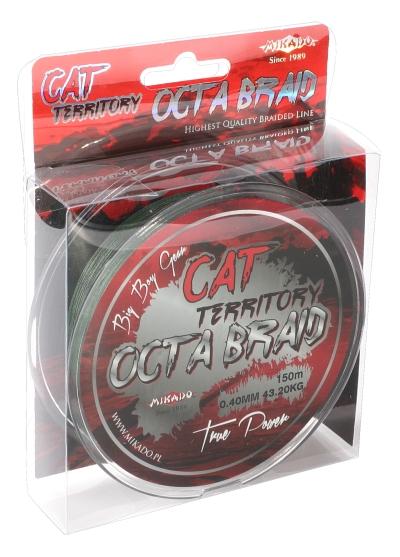 MIKADO Sumcová šnúra Cat Territory Octa Braid - 0.40mm/150m/39.80kg