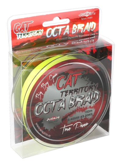 MIKADO Sumcová šnúra Cat Territory Octa Braid - 0.50mm/150m/53.30kg