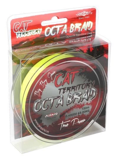 MIKADO Sumcová šnúra Cat Territory Octa Braid - 0.70mm/150m/76.40kg